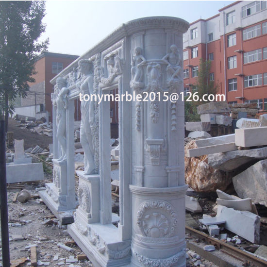 White Marble Fireplace Surround Mantel (SY-MF009) pictures & photos