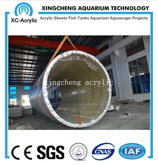 PMMA Cylindric Acrylic Fish Tank Price