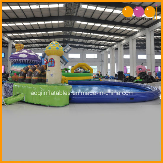 PVC Tarpaulin Mushroon and Strawberry Garden Inflatable Water Pool (AQ3285) pictures & photos