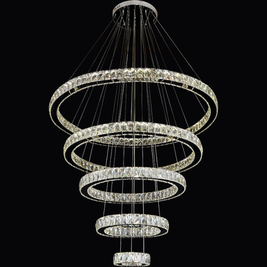 Ring Crystal Pendant Light Modern Led Chandelier Lighting