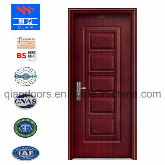 Luxury Heat Transfer Printed Black Walnut Steel Front Door 11 Ideas - Lovely black front door Plan