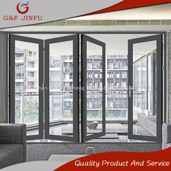 China Guangdong Manufacture Aluminum Folding Panel Door With Double