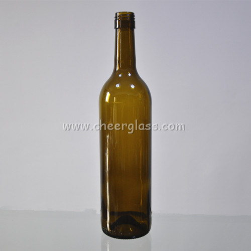 750ml Screw Top Light Weight Glass Wine Bottle for Bordeaux