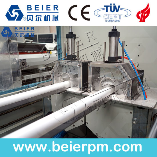 PVC Pipe Plastic Conical Twin Screw Extruder/Extrusion Machine pictures & photos