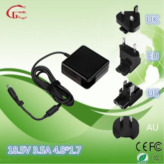 Laptop/Notebook/Computer AC DC Power Adapter HP 18.5V 3.5A Square Shape pictures & photos