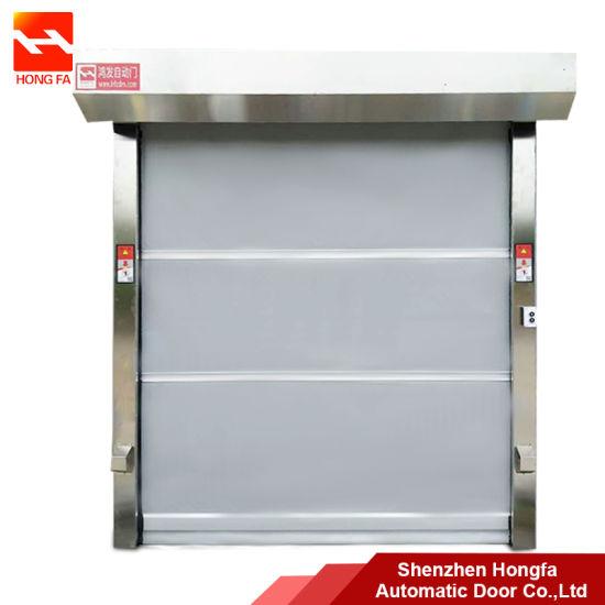 Industrial PVC High Speed Rolling Shutter Doors, Automatic Plastic Fabric Rapid Rolling up Door (HF-1041)