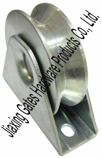 Steel U Shaped Wheel Pulley with Bracket Track Roller for Sliding Door 2.5 Inch