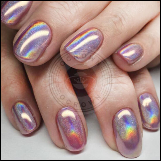 China Laser Shinning Holographic 3d Nail Art Chrome Mirror Pigment