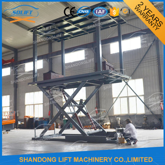 Hydraulic Car Scissor Vehicle Lift System Scissor Lift for Garage