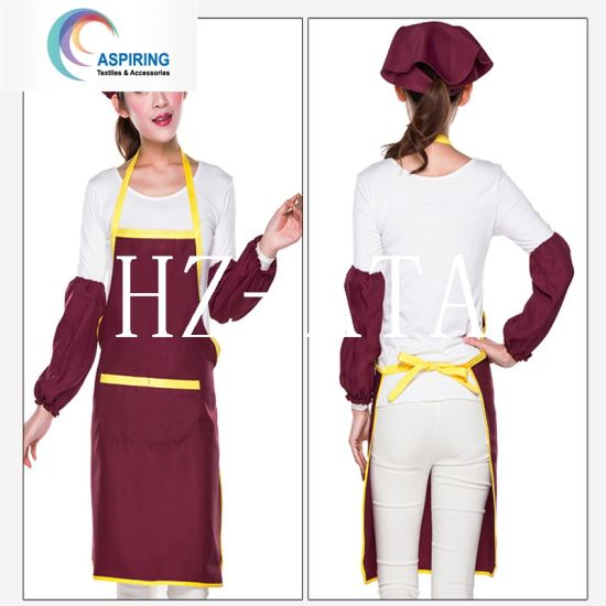 Polyester Cotton Beautiful Cooking Apron with Logo Printing pictures & photos
