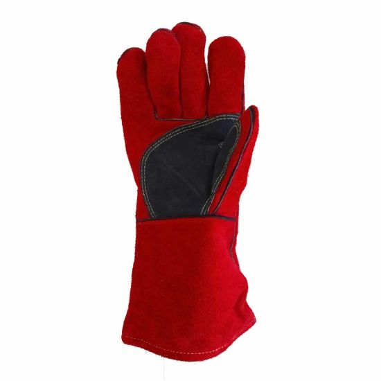 China Oven Grill Fireplace Pot Holder Tig Welder Bbq Long Sleeve Leather Welding Gloves China Glove Oven Grill Welding And Tig Welder Glove Leather Price