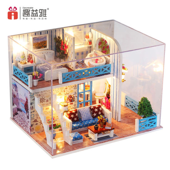 China Wooden Doll House With Sofa Design In Miniature House China