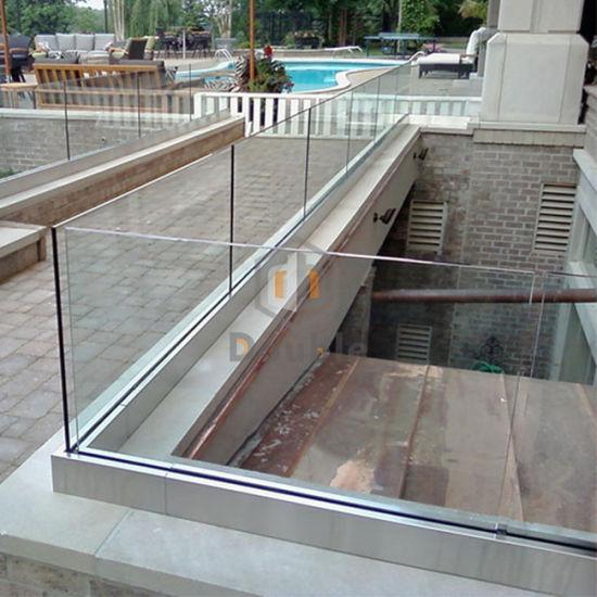 China Aluminum Deck Railing/ U Channel Glass Railings - China Glass