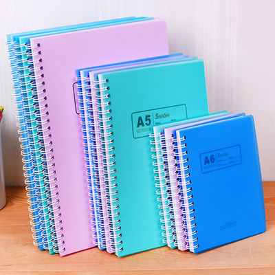 Office School Stationers A5 A6 A7 B5 Size Note Books Paper Wire O Binding Spiral PP Cover Notebook