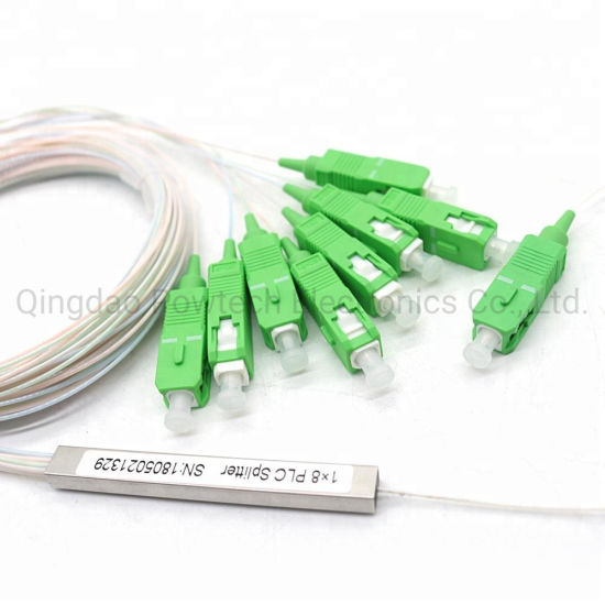 1x8 SC//APC Fiber Optic PLC Splitter Fiber splitters Fiber pigtails