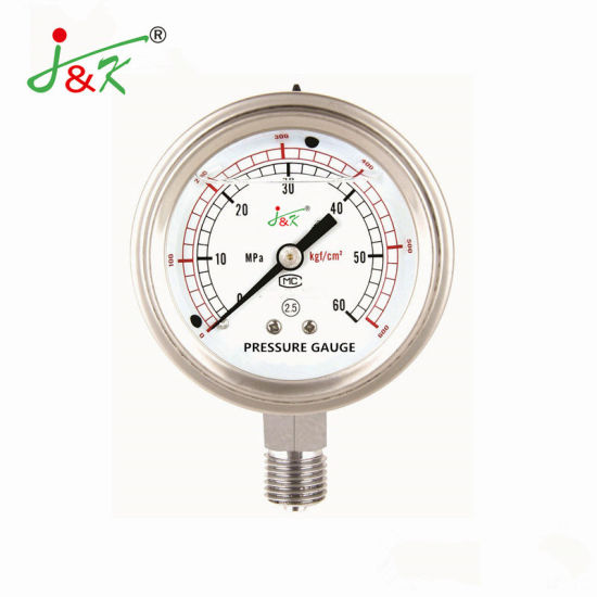 Back with Front Flange Shock - Resistant Manometer From Jk Company