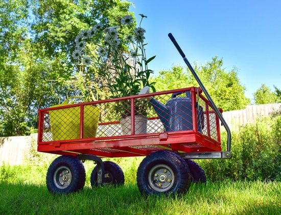 High Quality Stainless Steel Hand Trolley Garden Cart