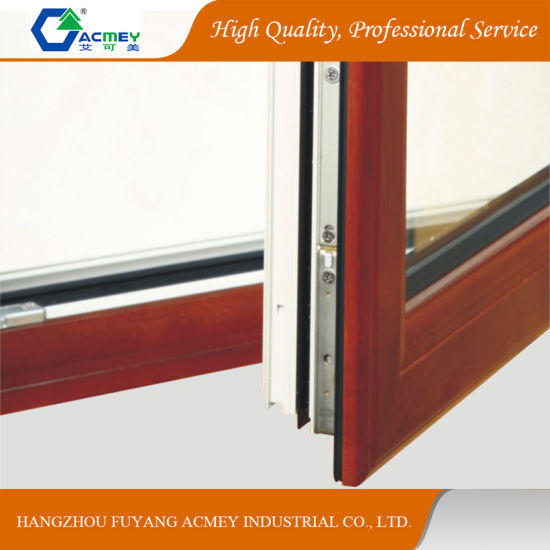 Low E Soundproof Aluminium Wood Door U0026 Window With Double Toughened Glass  For Villa House