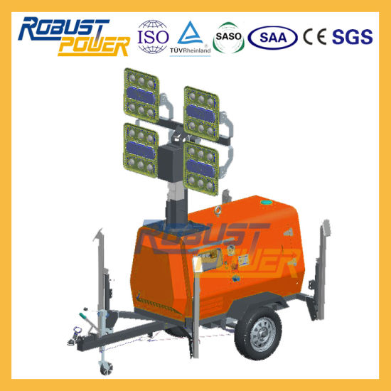 China 6 8kw Led Light Tower, Portable Outdoor Lighting Tower