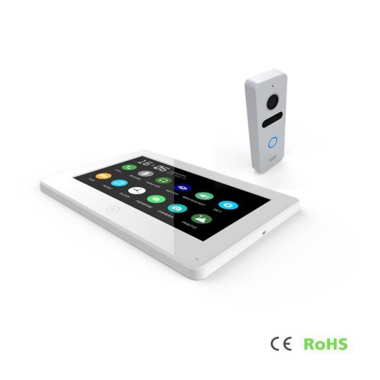 "Touch Screen 7"" Home Security Interphone Video Door Phone Intercom System pictures & photos"