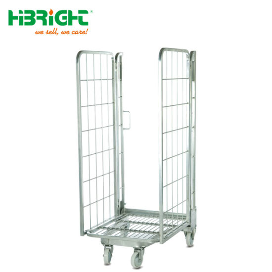 Heavy Duty Wire Mesh Pallet Cage with Wheels pictures & photos