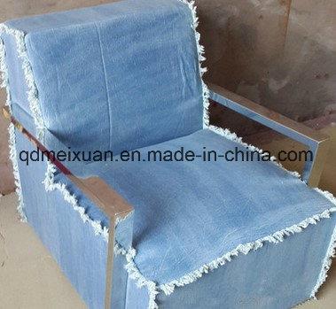 China Boreal Europe Furniture Living Room Sofa Chair Classic Denim