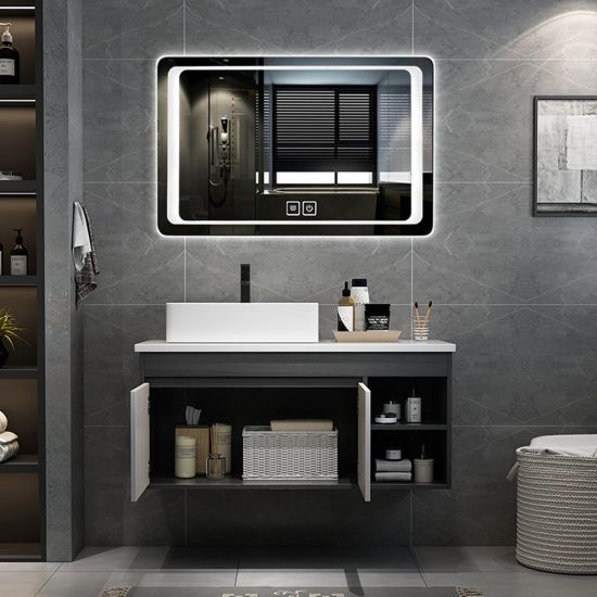 Modern Designer Led Mirror Wall Hanging Wooden Vanity Bathroom Cabinets For Sale China Bathroom Cabinet Bathroom Vanity Made In China Com