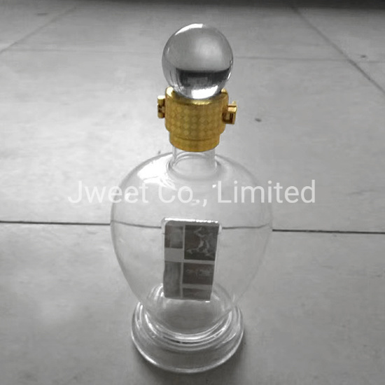 750ml OEM High Borosilicate Handcraft Wine Bottle for Whiskey Spirit