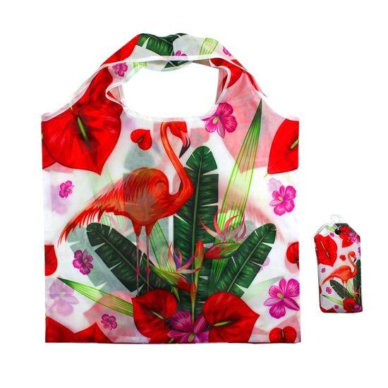 Fashion Foldable Screen Printing Shopping Bag Reusable Grocery Bags