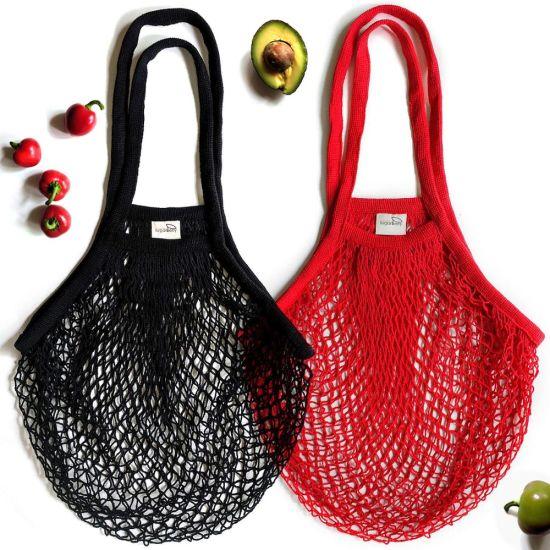 Reusable Grocery Organic Shopping Cotton Net Mesh Tote Bag