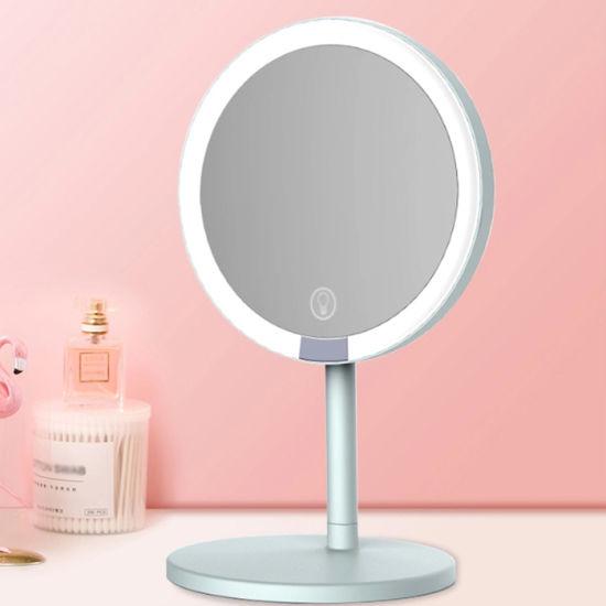 Mirror Vanity Desktop Led Makeup, Led Makeup Mirror Vanity