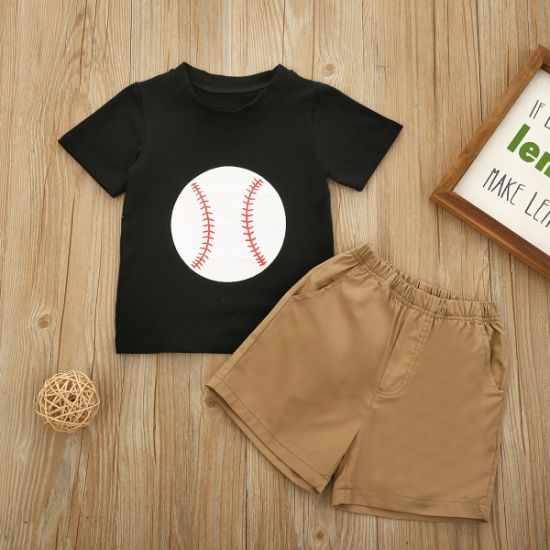 Boys' Suits Baseball T-Shirt Shorts Two-Piece Set Baby Clothes