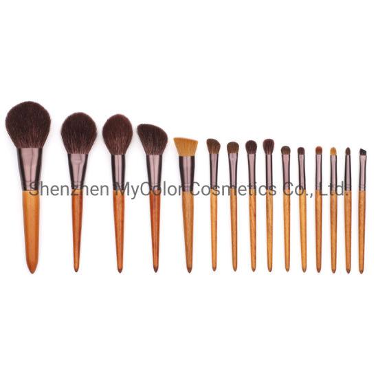 China Best Quality Goat Hair Artist Makeup Brushes 15pcs Eye Face Lip Cosmetics Brush China Makeup Kit Makeup Brushes