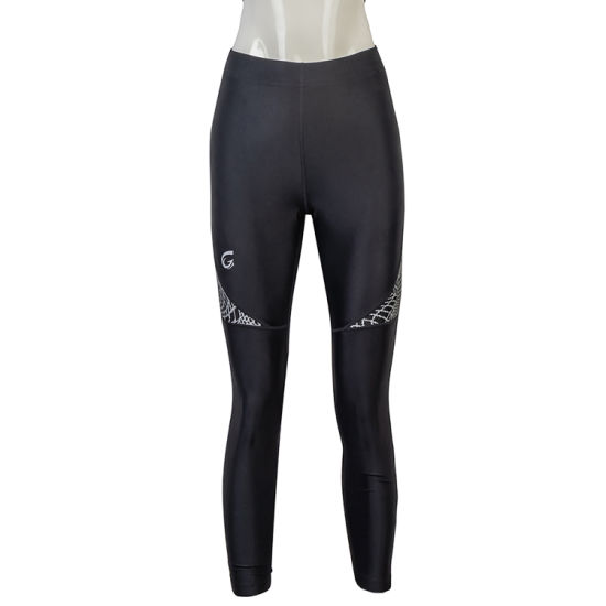 Wholesale Women's Fitness Breathable Training Reflective Printing Zip Yoga Pant