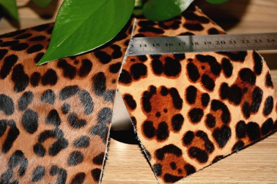 Natural Dairy Cattle Pattern Hair Calf Leather for Furniture, Bags, Shoes