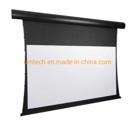 Electric Motorized Screen Drop Down Projector Screen Tab- Tension Screen Projection Screen