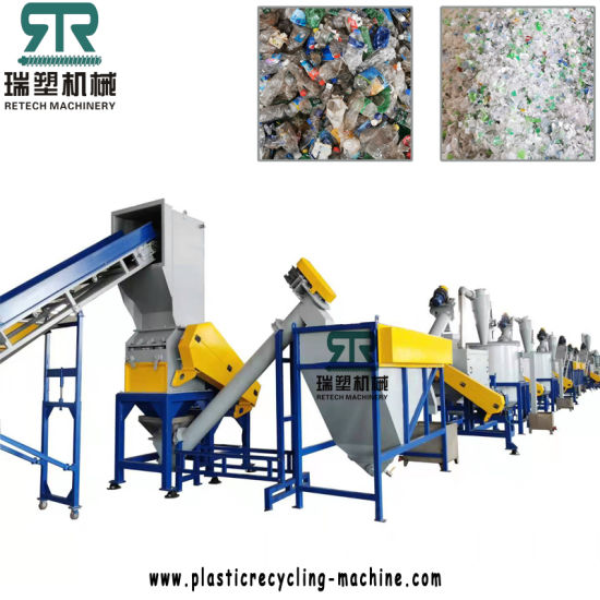 High Productivity Pet Bottle Recycling Washing Machine Water Cola Plastic Bottle Cleaning Line with Friction Washer
