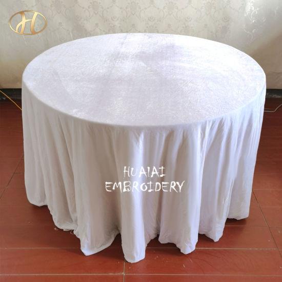 Guangzhou Whole 120 Round White, Round White Tablecloths For Wedding