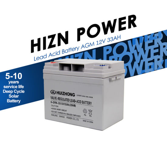 Manufacturer Wholesale 12V 33ah SMF AGM UPS Deep Cycle Rechargeable AGM 12V33ah Battery