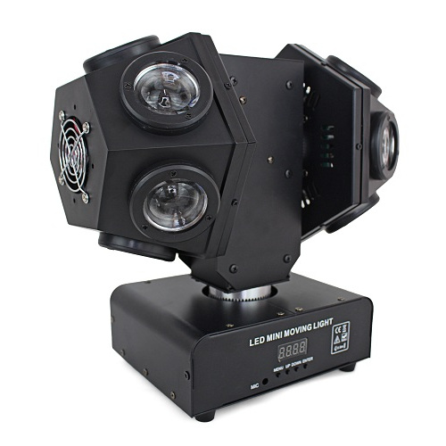 12*10W 4in1 RGBW LED Mini Double Arm Moving Head Light