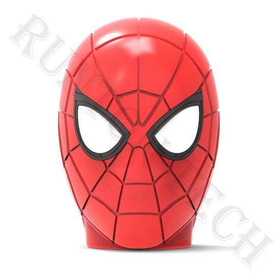 OEM Customized Mini Portable LED Cartoon Avengers Spiderman Bluetooth Speaker