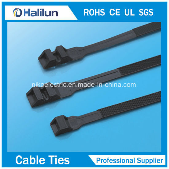 a82417c0a549 China Black Double Locking Zip Tie with Not Easy to Age - China Tie ...