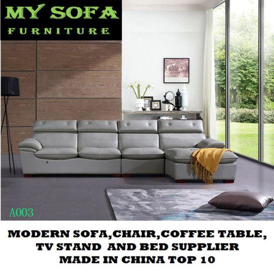 Chaise Sectional Leather Sofa, Classic Design Furniture China Sofa
