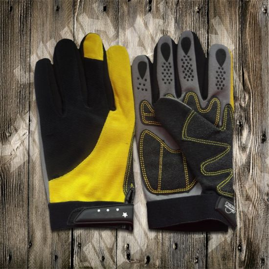Safety Glove-Working Glove-Industrial Glove-Machine Glove-Protected Glove-Synthetic Leather Glove pictures & photos