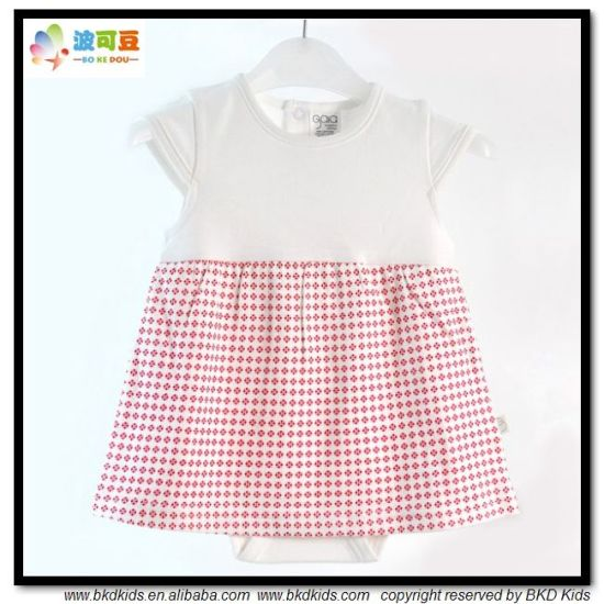 0-Neck Baby Wear High Quality Baby Dress