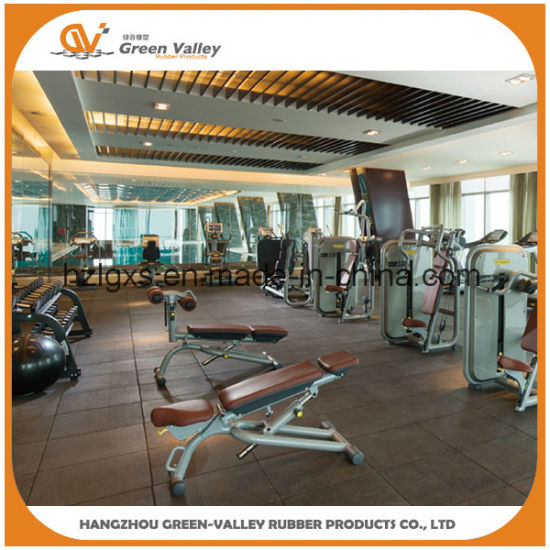 China Gym Rubber Flooring Mat Rubber Tile For Fitness Center