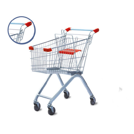 European Style Unfolding Supermarket Shopping Cart Trolley