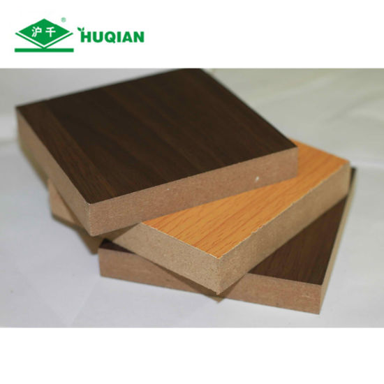 High Grade E2 Glue15mm Walnut Melamine Coated MDF Board for Cabinet pictures & photos
