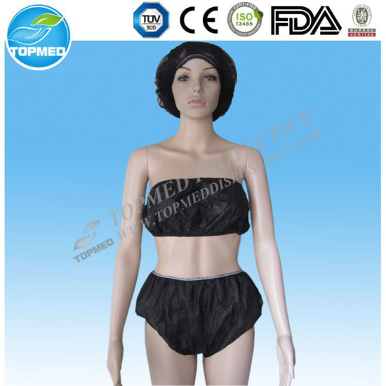 Hot Sell Nonwoven Disposable Panties for Women, Disposable Ladies Panties for Salon SPA Use