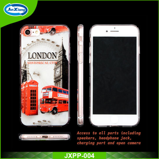 Welcome Custom Design Transparent Clear PC Cell Phone Case for iPhone 7/8/X
